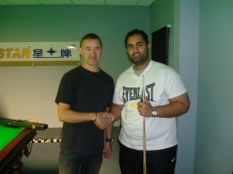 Stephen Hendry with Dr Mohammed Khizar Raoff